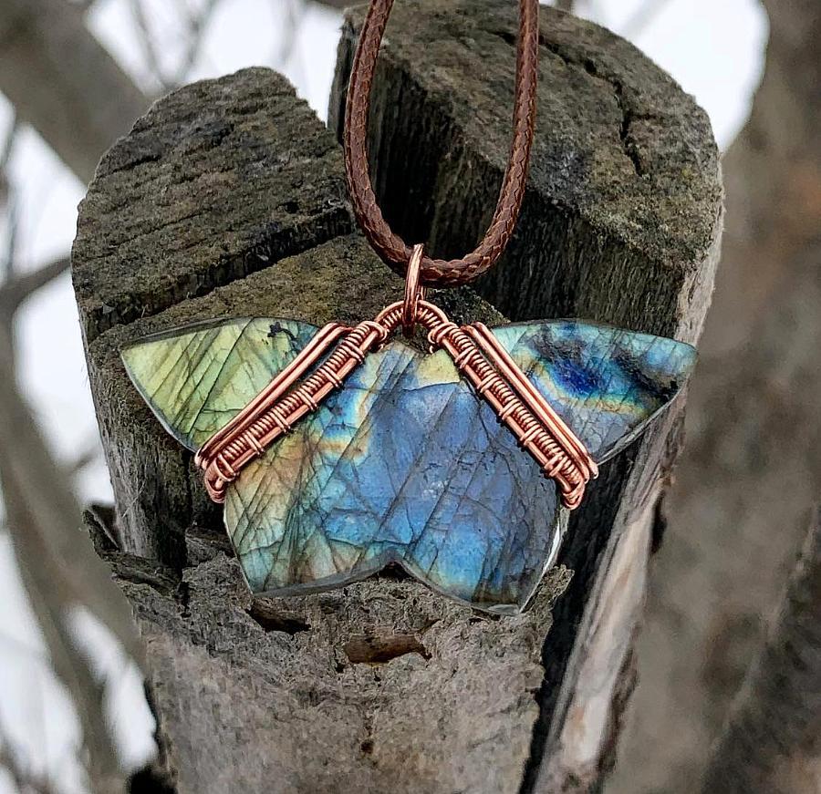 Butterfly Labradorite Pendant
